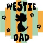 Westie Dad - Green/Orange Stripe