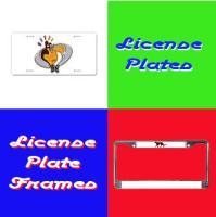Designer Aluminum License Plates & Frames