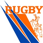 Rugby Line out Blue Orange