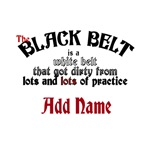 The Black Belt is Customize with Name