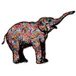 Roaring Elephant in Polka Dots