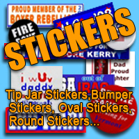 Stickers! Tip Jar Sayings, Bumper Stickers, More!