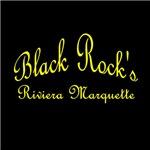Yellow Font Black Rock's Riviera Marquette