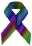 Rainbow Awareness Ribbon A