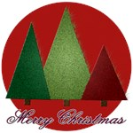 Three Trees Merry Christmas CC