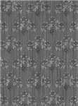 Grey Victorian Floral Pattern for iPhone & iPad