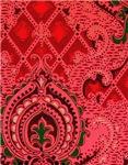 Red Paisley Wallpaper Pattern