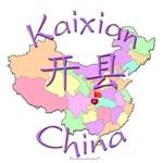 Kaixian China Map