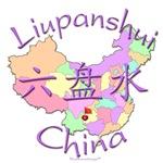 Liupanshui China Color Map