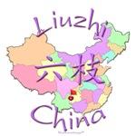 Liuzhi China Color Map