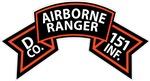 D Co 151st Infantry (Ranger) Scroll