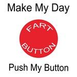 Make My Day Fart Button White