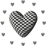 3D Checkered Heart