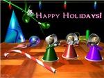 3D Angels Sing Happy Holiday Carols