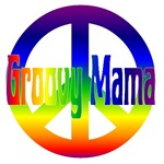 Groovy Mama With Peace Sign
