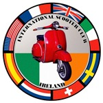 IRELAND VESPA SCOOTER FLAG T-SHIRTS & GIF