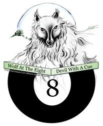Wolf At The 8, Billiard Wolf T-shirts