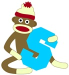 Sock Monkey Monogram Boy S