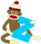 Sock Monkey Monogram Boy Z