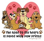 The Road To My Heart Dog Paw Prints