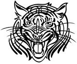 Tribal tiger design...