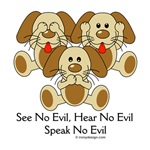 See No Evil Puppy Dogs