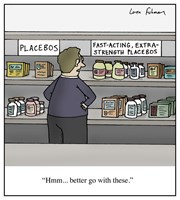 Fast acting, extra strength placebos