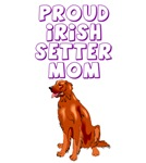 Proud Irish Setter mom
