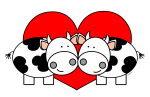 Love Cows (red)