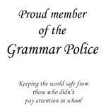 Grammar police member