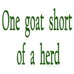 One goat short