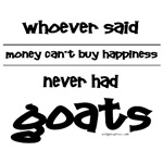 Money for happiness, goats