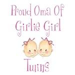 Proud Oma Girl Twins