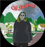 Oh Susana! black clouds (black background)