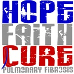 Hope Faith Cure Pulmonary Fibrosis Shirts and Gift
