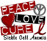 Peace Love Cure 1 Sickle Cell Anemia Tees