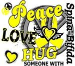Peace Love Hug 2 Spina Bifida T-Shirts
