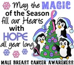 Christmas Penguins Male Breast Cancer Gifts