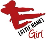 [STYLE NAME] Girl Karate Shirts & Gifts