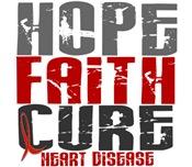 HOPE FAITH CURE Heart Disease Gifts Shirts Apparel