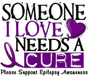 Needs A Cure EPILEPSY T-Shirts & Apparel