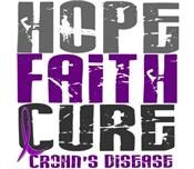 HOPE FAITH CURE Crohn's Disease T-Shirts
