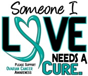 Needs A Cure 2 OVARIAN CANCER T-Shirts & Gifts