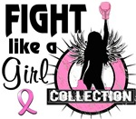 Licensed Fight Like A Girl Breast Cancer Shirts Me