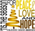 Christmas 1 Childhood Cancer Shirts and Gifts