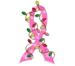Christmas Lights Ribbon Breast Cancer Gifts