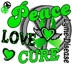 Peace Love Cure 2 Lyme Disease Shirts