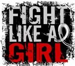 Licensed Fight Like a Girl 31.8 Mesothelioma Shirt
