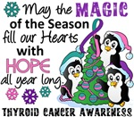 Thyroid Cancer Christmas Cards and Gifts
