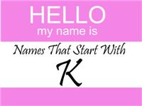 Names That Start With K